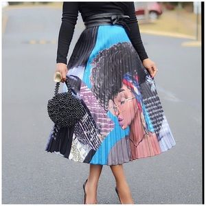 Dresses & Skirts - New! African American Melanin High Pleated Skirt